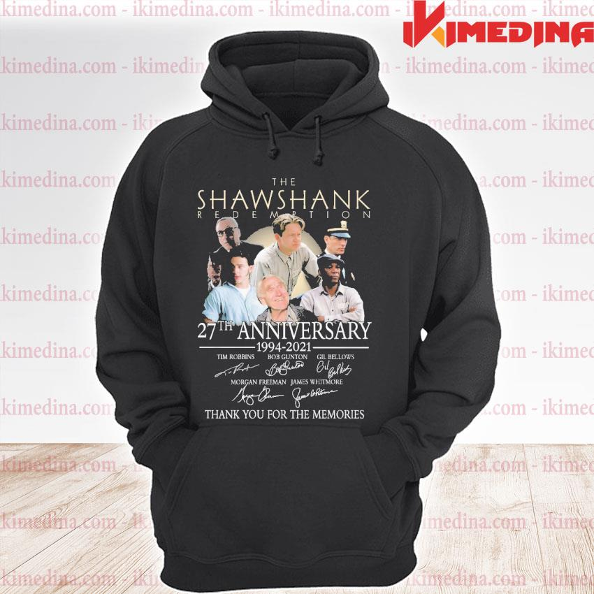Official the shawshank redemption 27th anniversary 1994 2021 s premium hoodie