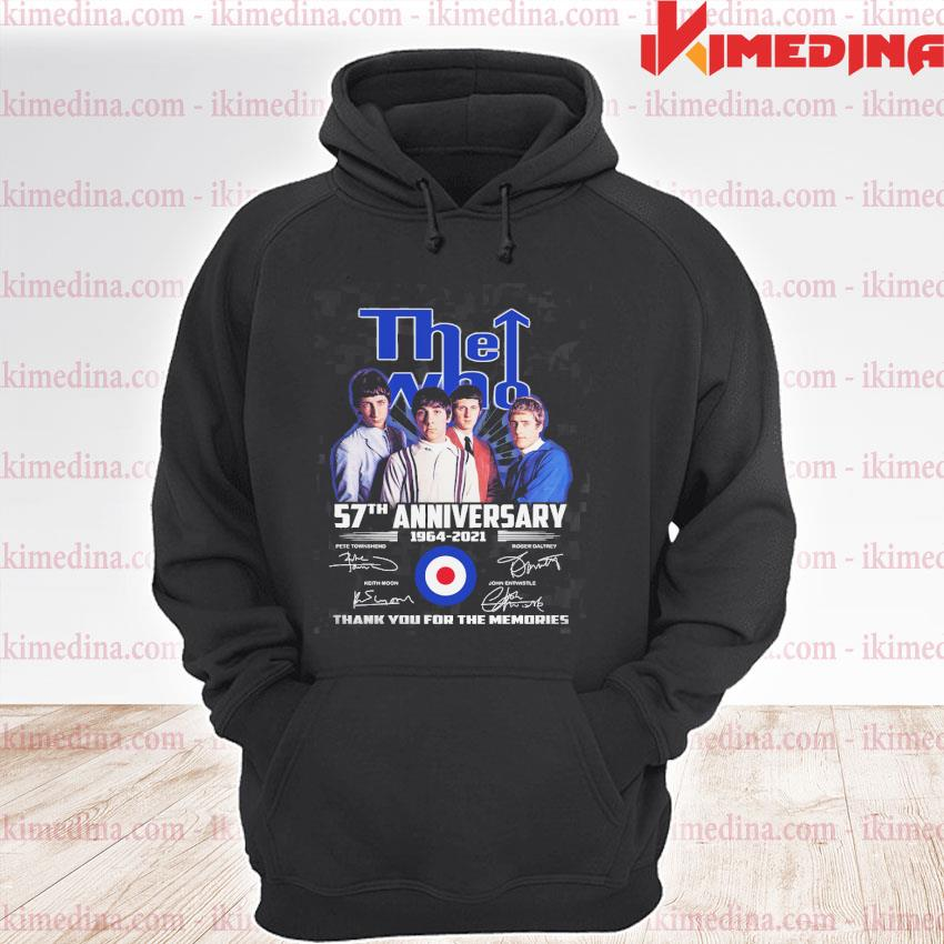 Official the who 57th anniversary 1964 2021 thank you for the memories s premium hoodie