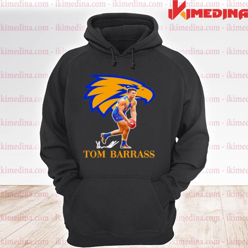 Official tom barrass player of team philadelphia eagles football signature s premium hoodie