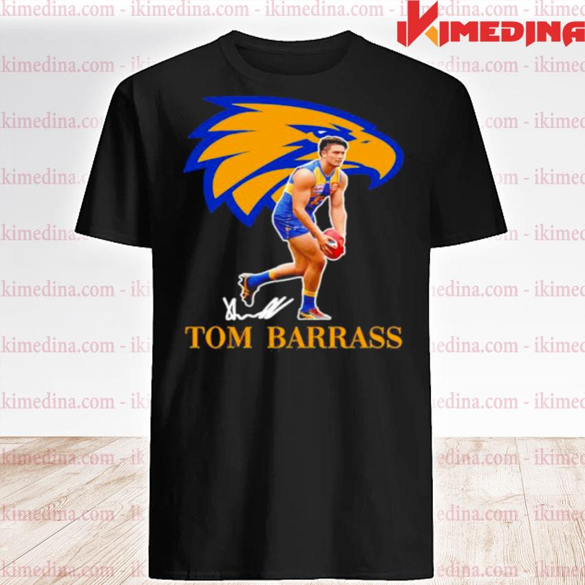 Official tom barrass player of team philadelphia eagles football signature shirt