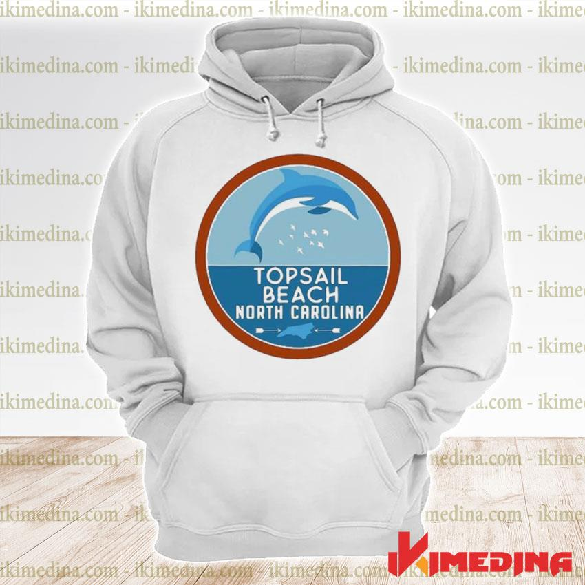 Official topsail beach north carolina nc dolphin lover s premium hoodie
