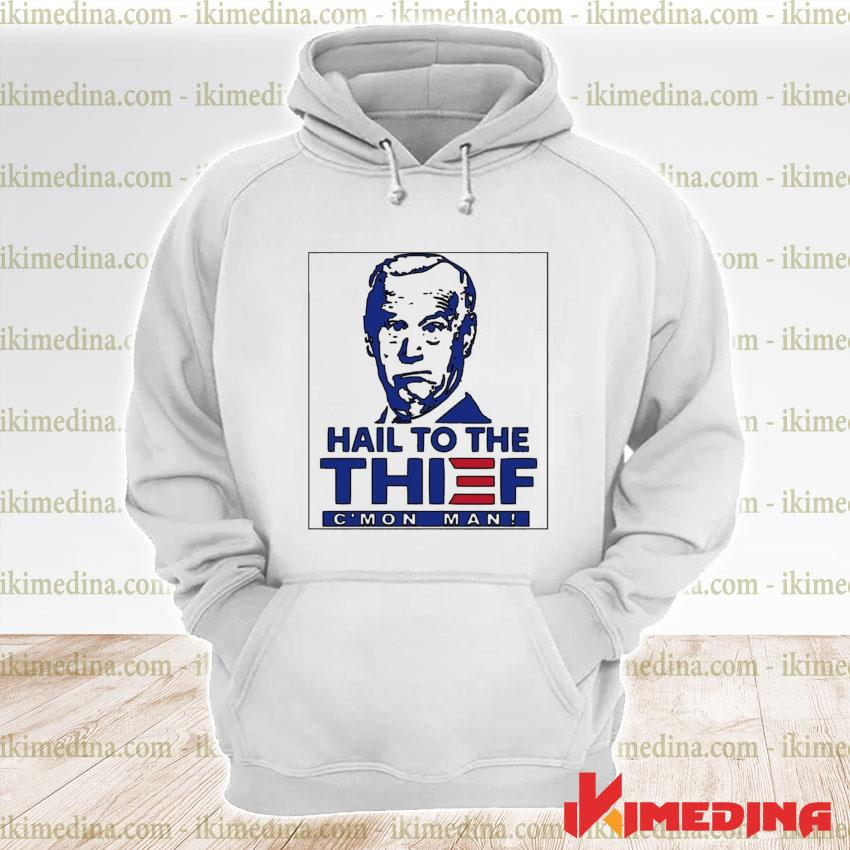 Official trump hail to the thief c'mon man s premium hoodie