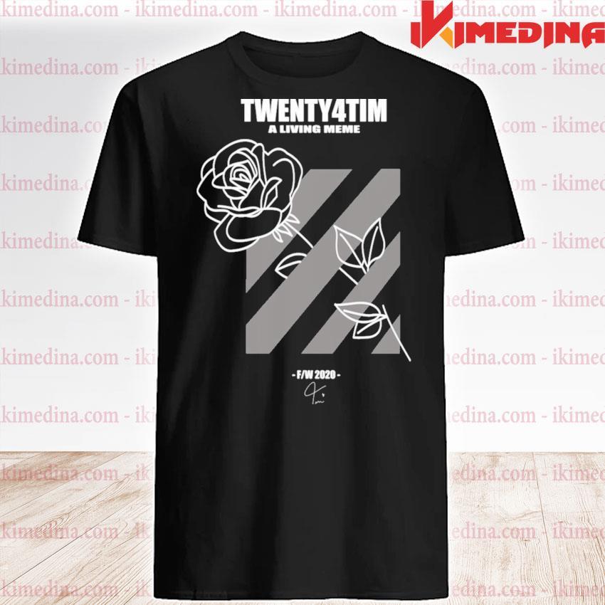 Official twenty4tim shop merch rose shirt