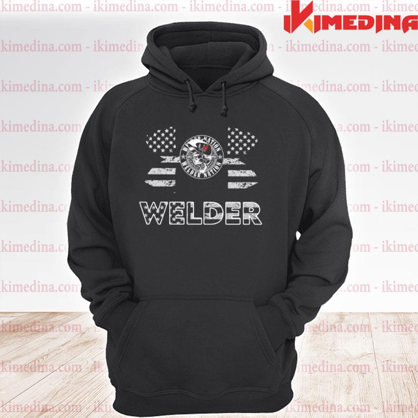 Official under armour welder american flag s premium hoodie