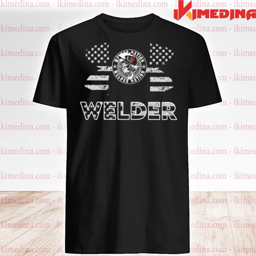 Official under armour welder american flag shirt