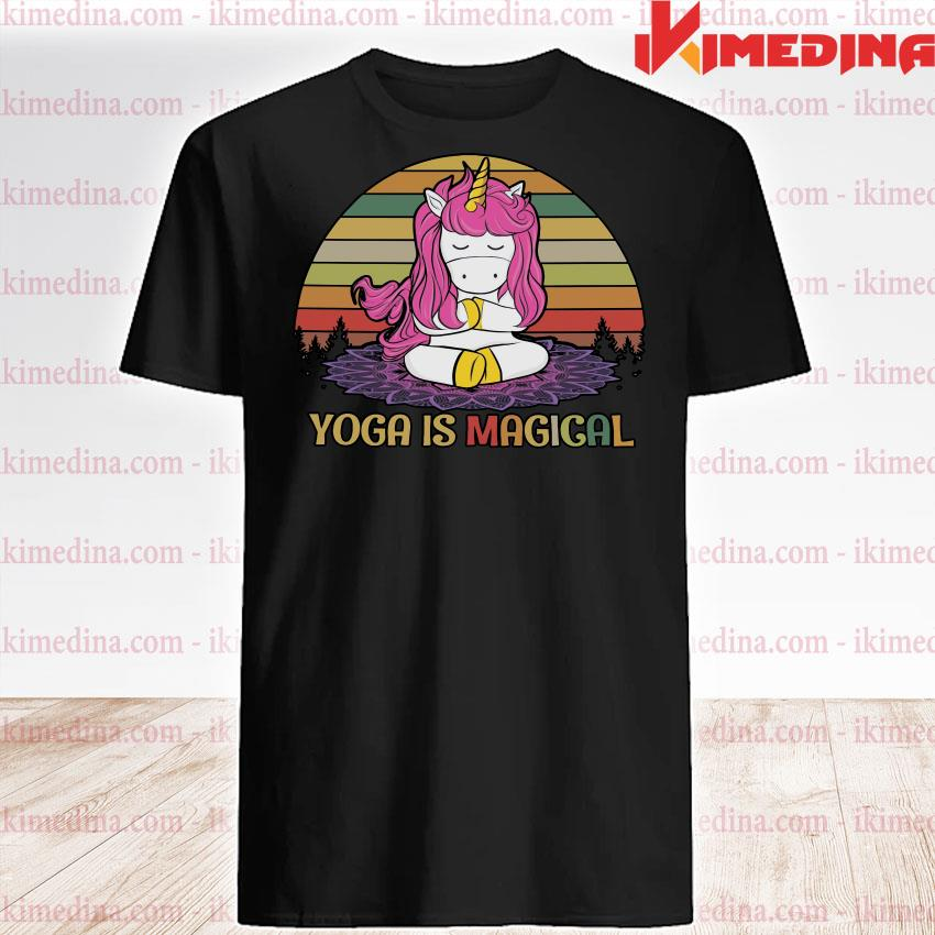 Official unicorn yoga is magical vintage shirt