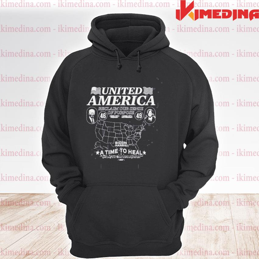 Official united american reclaim our sense of purpose biden harris s premium hoodie