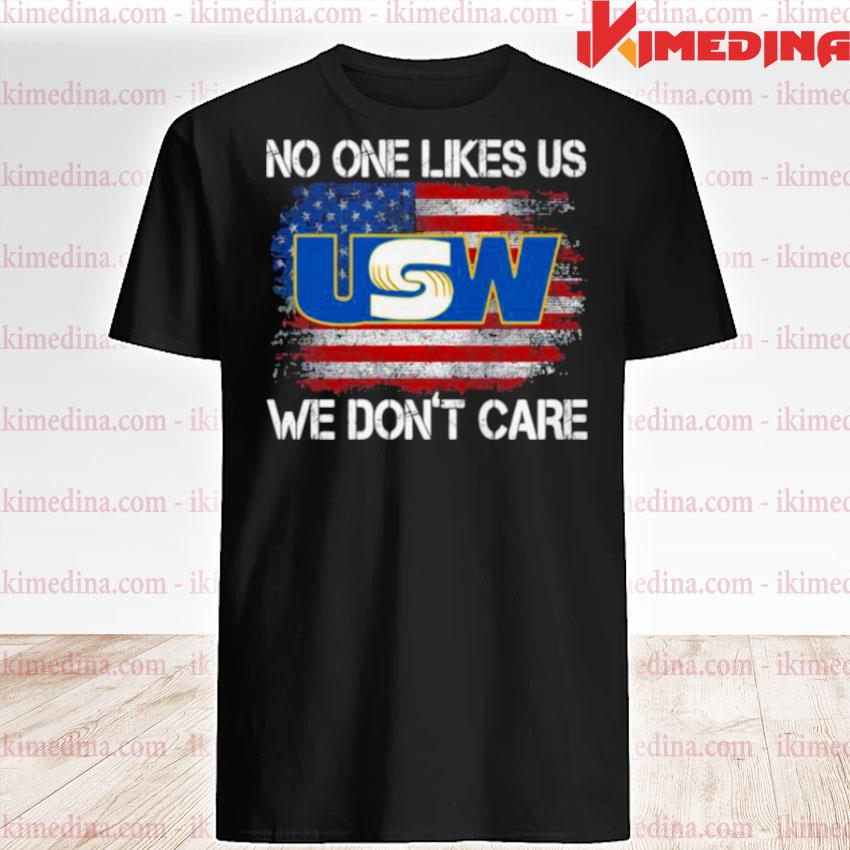 Official united steelworkers no one likes us we don't care american flag shirt