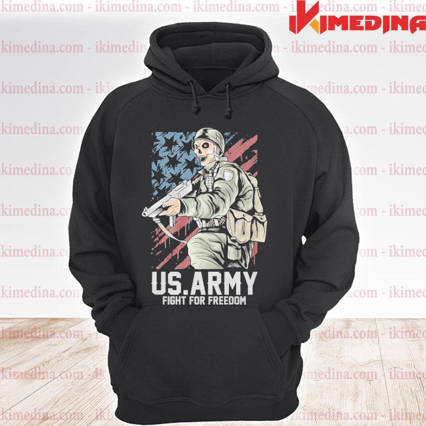 Official us army fight for freedom american flag s premium hoodie
