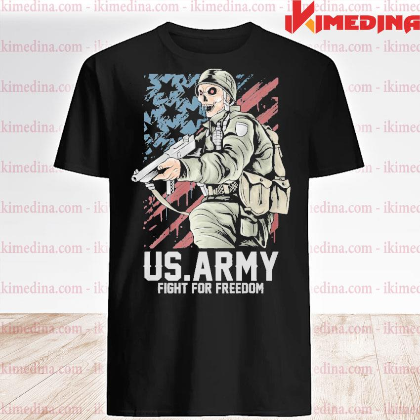 Official us army fight for freedom american flag shirt