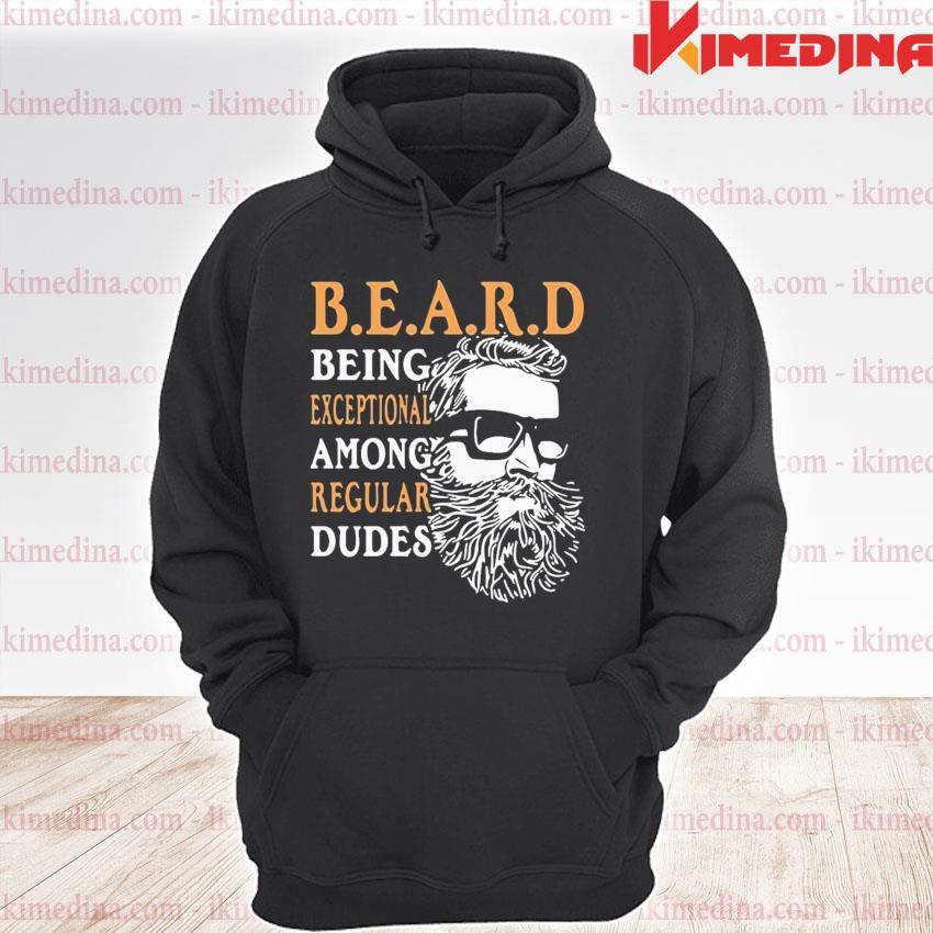 Official vintage being exceptional among regular dudes beard s premium hoodie