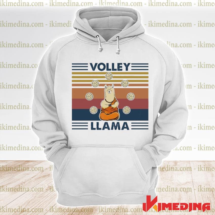 Official volley llama vintage s premium hoodie