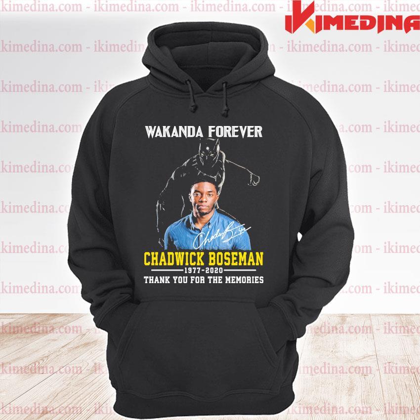 Official wakanda forever chadwick boseman 1977 2020 thank you the memories s premium hoodie