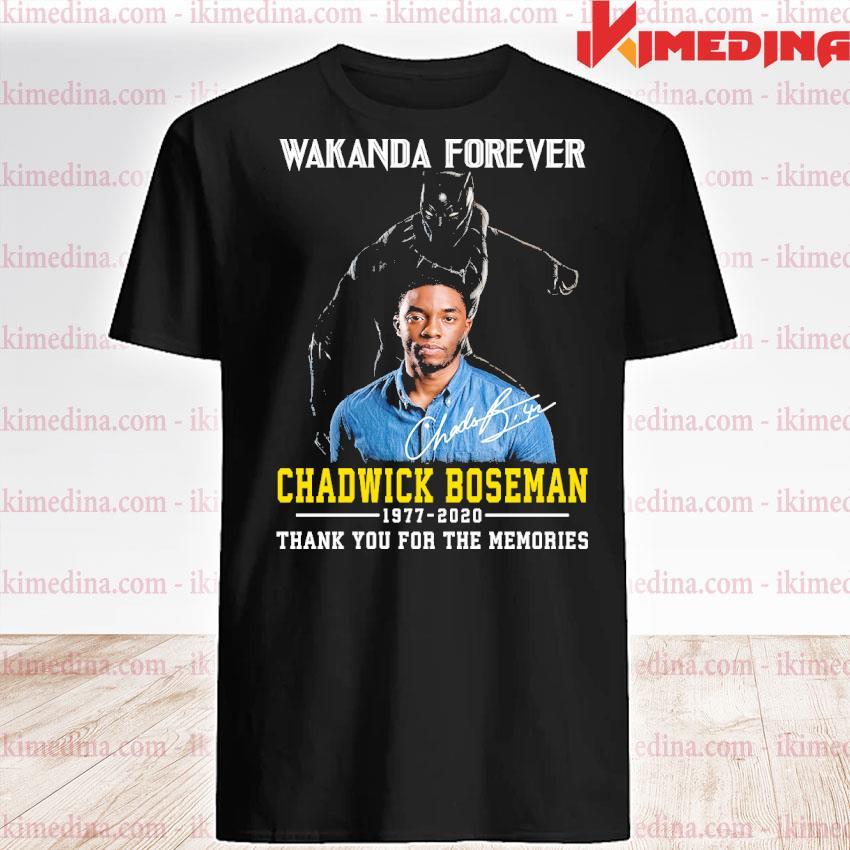 Official wakanda forever chadwick boseman 1977 2020 thank you the memories shirt