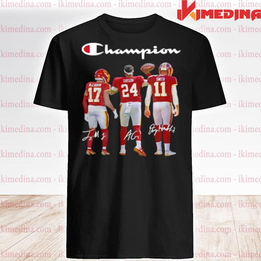 Official washington redskins champion terry mclaurin 17 antonio gibson 24 alex smith 11 2021 shirt