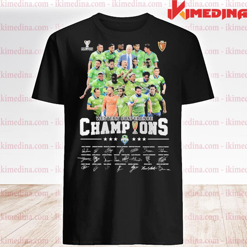 Official western conference champions players signature 2021 shirt