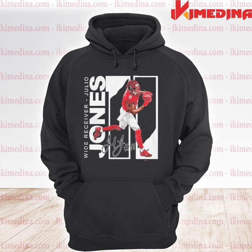 Official wide receiver julio jones atlanta football signature s premium hoodie