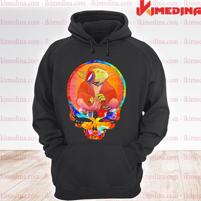 Official yoda listening music grateful skull s premium hoodie